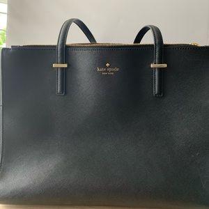 Kate Spade Black Cedar Street Jensen Lg Handbag